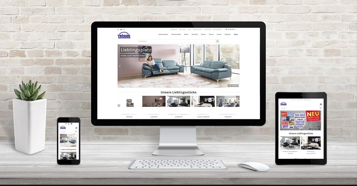 Trösser Polstermöbel Boxspringbetten Online Shop